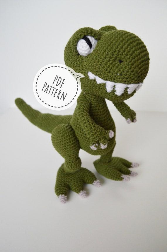 Free Crochet Dinosaur Pattern- The Friendly Dino | Crochet ... | 861x570
