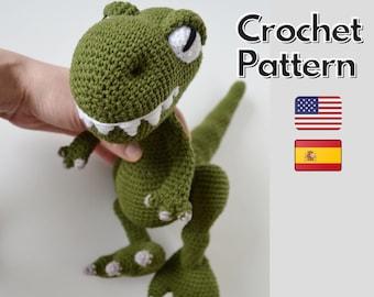 Crochet dinosaur pattern, t-rex amigurumi pattern