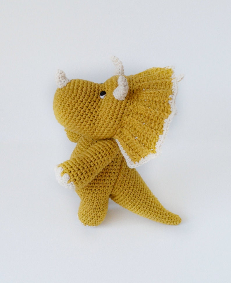 amigurumi dinosaur toy pattern Dinosaur triceratops crochet pattern