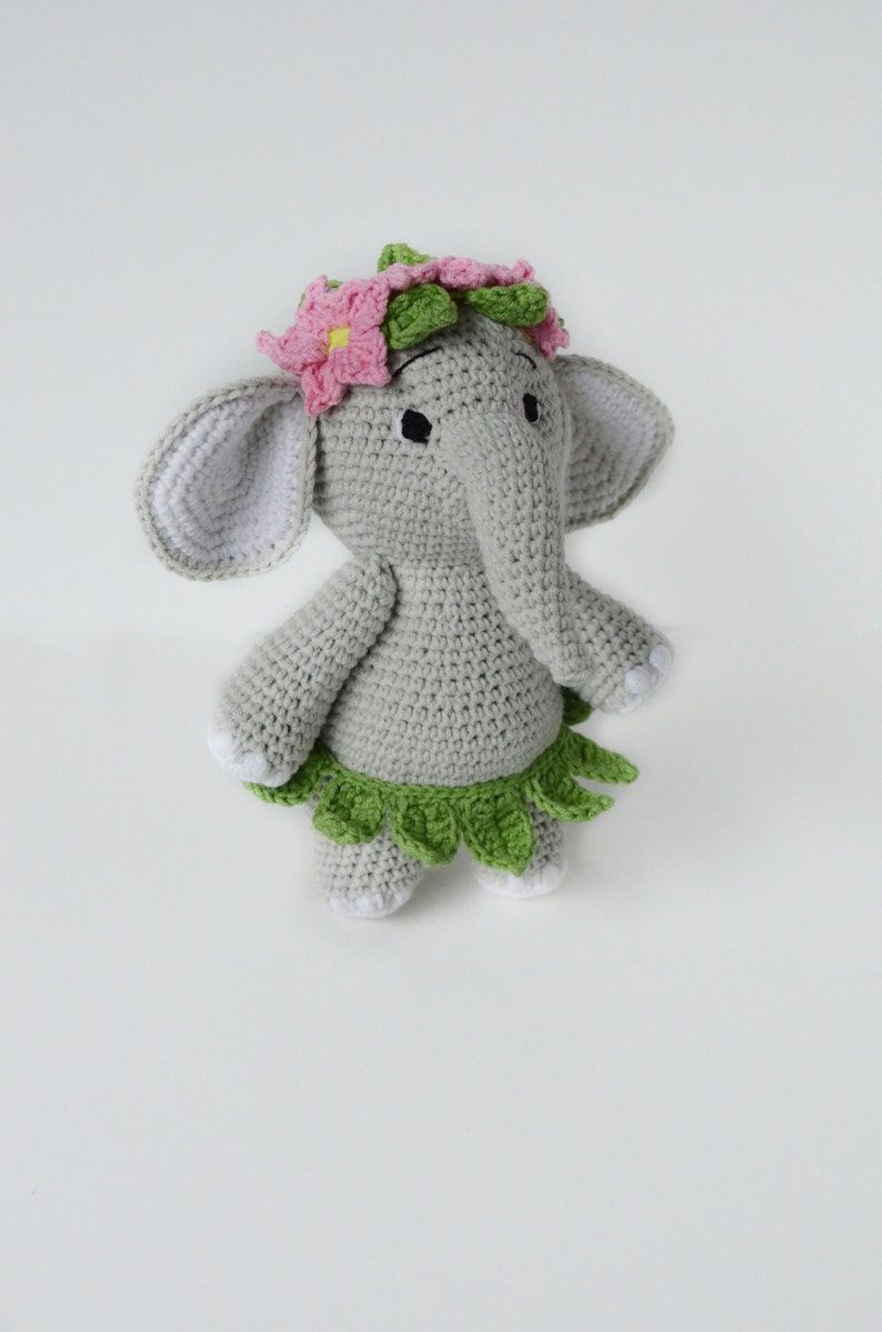 Blauer Elefant häkeln Kit handgefertigte gefüllte Spielzeugherstellung