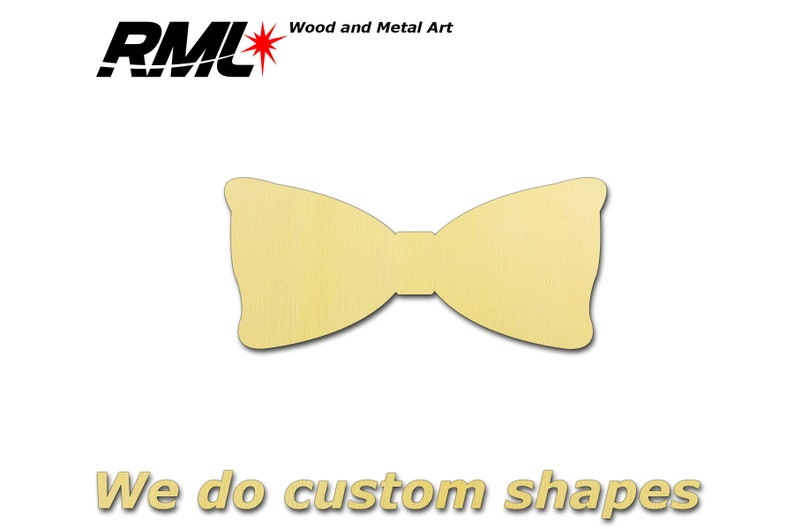 Bow Tie Blank Shape Wooden Pack Bundle Plywood Hobbies Set image 0