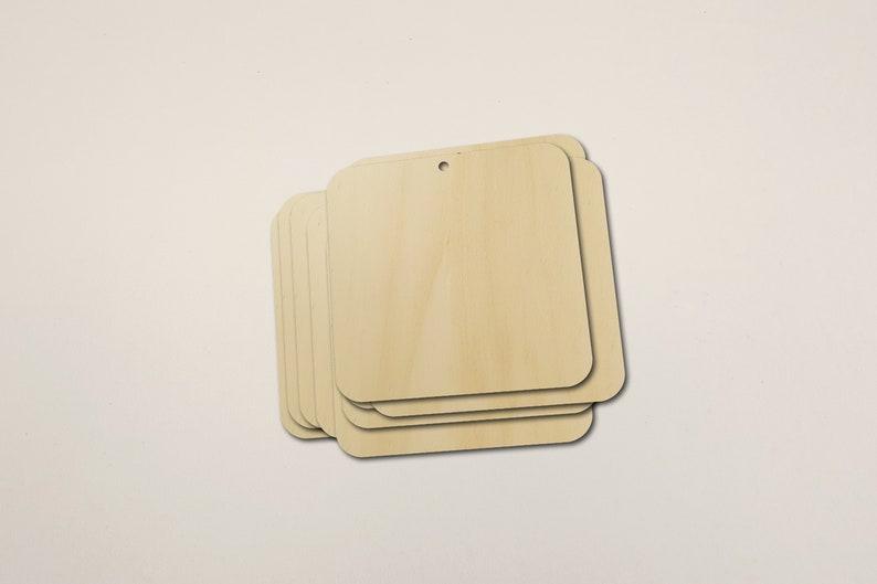 Rounded Square Blank Shape Wooden Pack Bundle Plywood Hobbies Set #1014