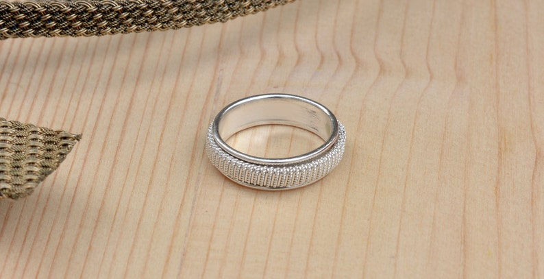 Twisted ring Statement Ring Anxiety Ring Sterling Silver Filigree Ring Silver Ring For Women