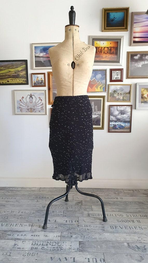 Black Karavan vintag embellished beaded bias cut s