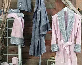 Lace Guipure bamboo bathrobe ac688d6f5