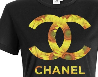 547a493b5 Coco Chanel Sunflower T-Shirt, Chanel Inspired shirt, Fashion shirt,  Designer shirt, Gift Shirt