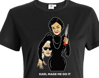 Coco Chanel vs Lagerfeld T-Shirt, Chanel shirt, Fashion shirt, Designer  shirt, Gift Shirt 24225dcd127