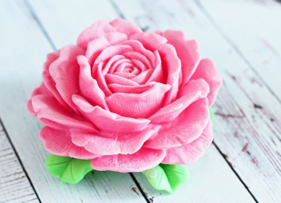 Rose Flower Soap Mold 3D Silicone Mold Candle Resin Craft Flexible Easy Reusable