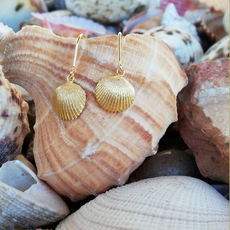 Silver seashells earrings