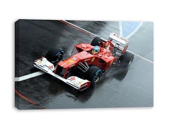 e0f15a415a FERNANDO ALONSO F1 Ferrari toile art mural
