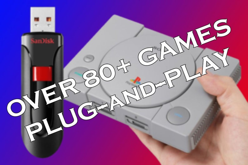 PlayStation Classic Mod 64GB USB Drive - Plug & Play - Over 85+ of the Best  PS Games!