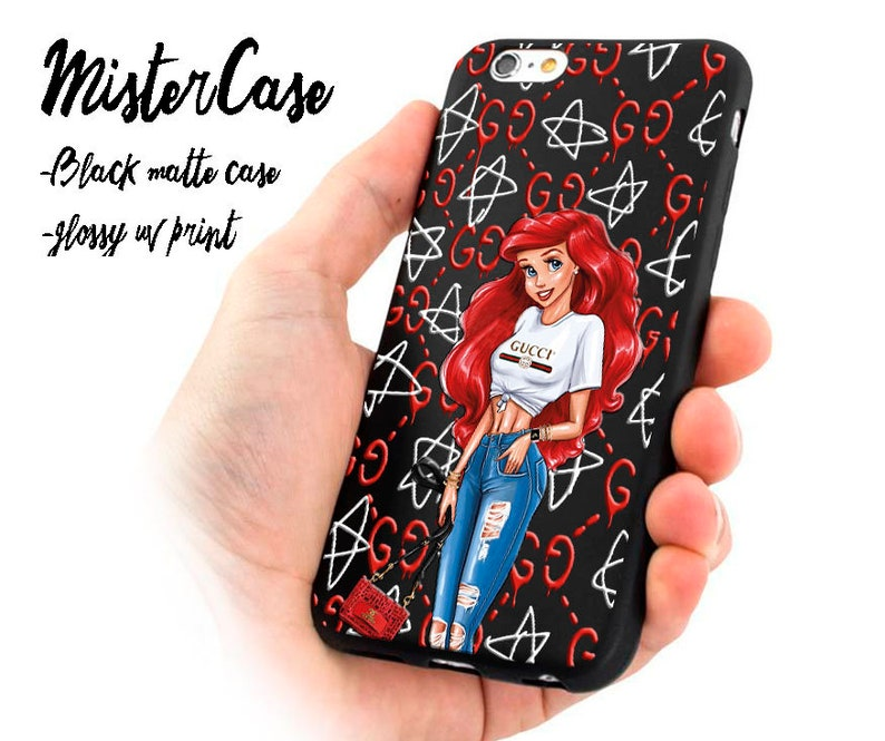 finest selection 5d8d1 f4e5f little mermaid iPhone 8 Plus case Chanel inspired iphone X case supreme  Disney princess case Designer iPhone XS case iPhone XS max case cute