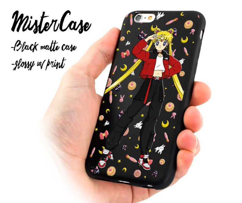 brand new 24ae6 eed0d Sailor Moon Anime Phone case supreme inspired iPhone 8 Plus case hypebeast  Designer iphone X case iPhone XS max case iPhone XS case Supreme