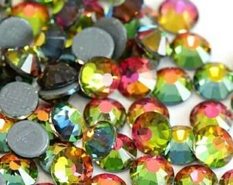 ss16 ss30 - Vitrail Medium GLASS- flat back code #060 Vitrail Medium Rainbow Rhinestones High Quality ss20