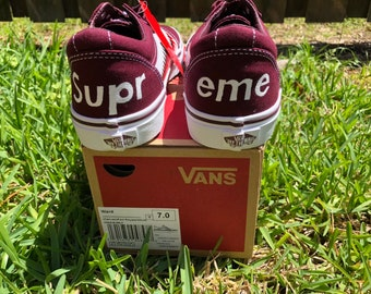 489517ab3f Custom Vans Shark Teeth   Supreme