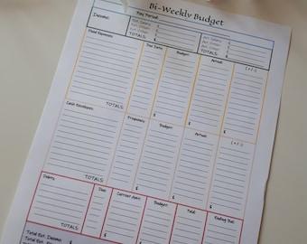 picture regarding Bi Weekly Budget Printable named Biweekly spending budget Etsy