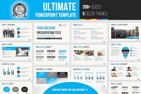 Modele De Presentation Powerpoint Ultime 200 Diapositives Etsy