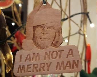 Star Trek Worf MERRY MAN Christmas decoration