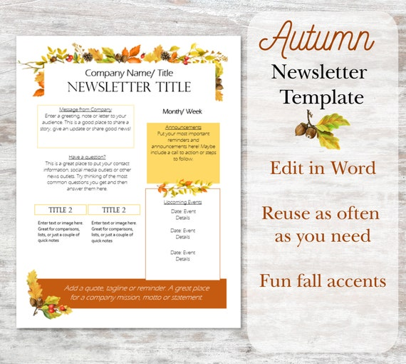 Fall Word Template from i.etsystatic.com