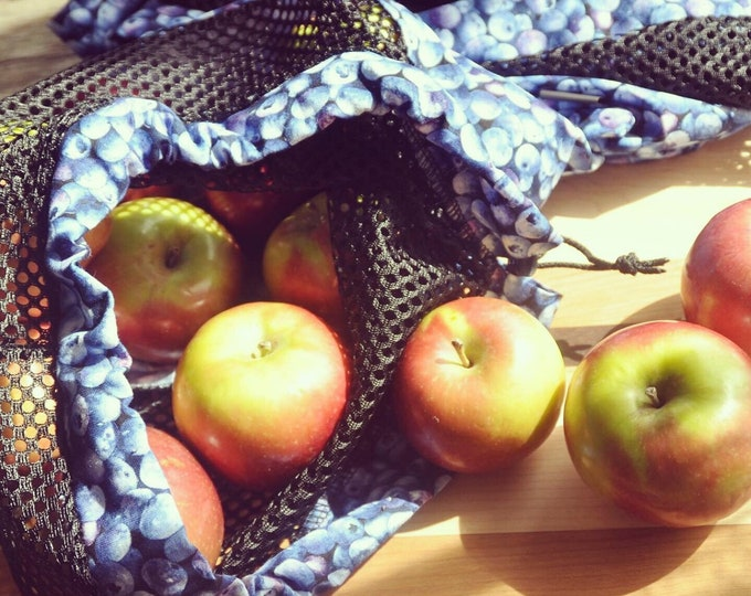 Reusable fruit and vegetable bags 'Blue'