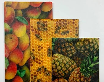Kit of 3 (p-m-g): Beeswax-based packaging (Beeswax)