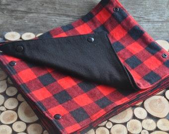 Reusable napkins- Tile (Red/Black)