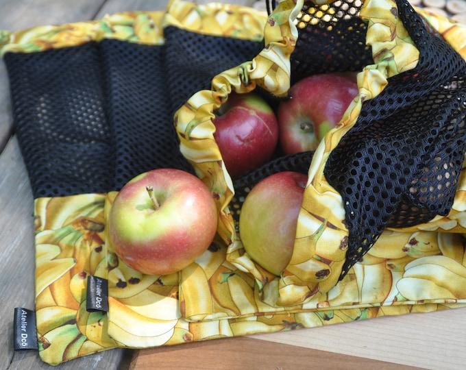 Reusable fruit and vegetable bags motif 'Banane'