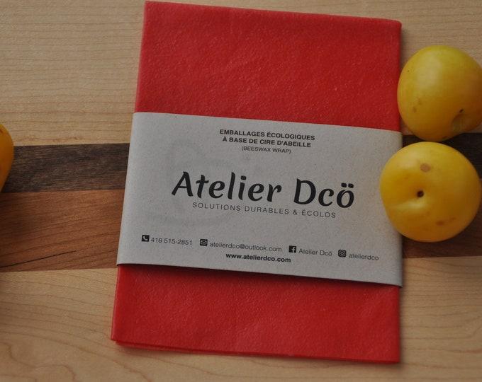 Medium Red 10x12: Beeswax-based food packaging