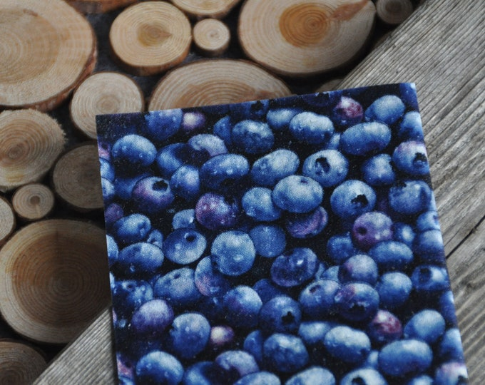 Small blueberry 8x8: Beeswax-based food packaging
