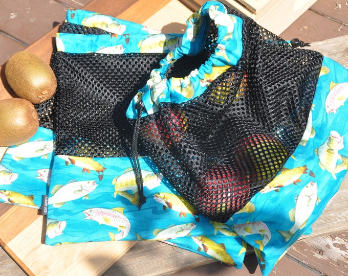 Reusable fruit and vegetable bags motif 'Fish'