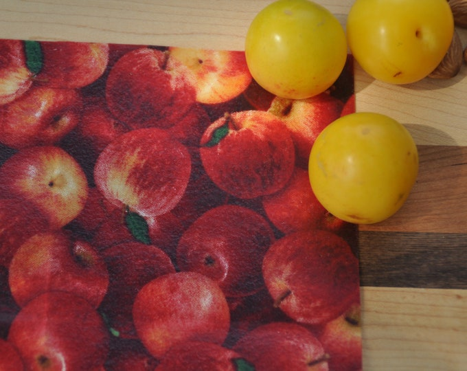 Giant Apple 12x18: Beeswax-based food packaging