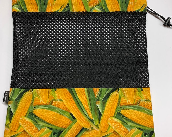 Reusable fruit and vegetable bags motif 'Wheat of India'
