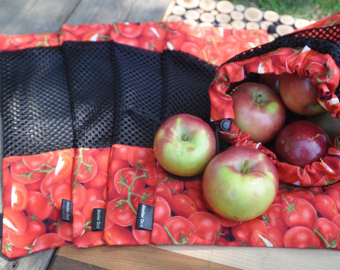 Reusable fruit and vegetable bags motif 'Tomato'