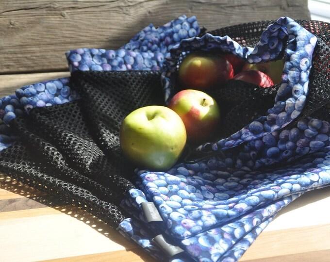 Ensemble de trois (3) sacs à filet
