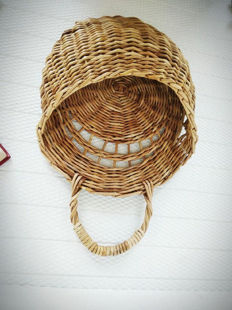 Rustic wicker hanging Wicker wall decor Door basket Mail basket Flower basket Universal basket Modern rustic decor Farmhouse woven basket
