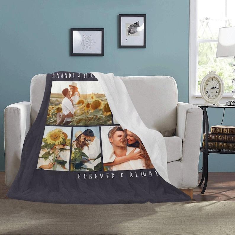 Custom Photo Fleece Blanket Personalized Sherpa Blanket With image 0
