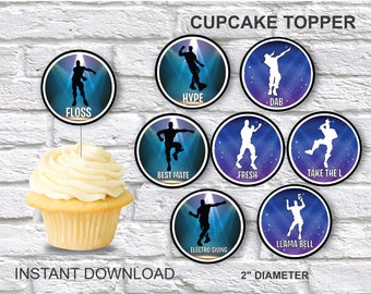 Fortnite Cupcake Toppers Etsy