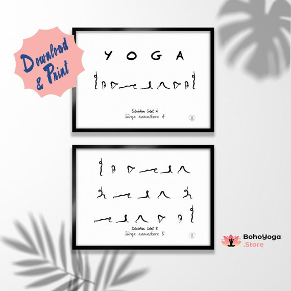 Ashtanga Yoga Series Poster Primary Series Of Ashtanga Etsy