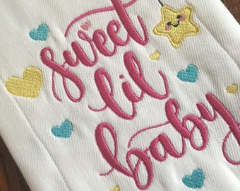Sweet Baby Burp Cloth, Baby Burp Cloth, Burp Cloth, Baby Shower Gift, Baby Gift, Baby Accessories