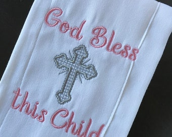 God Bless this Child Burp Cloth, Baby Burp Cloth, Burp Cloth, Baby Shower Gift, Baby Gift, Baby Accessories