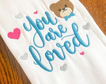 You are Loved Burp Cloth, Baby Burp Cloth, Burp Cloth, Baby Shower Gift, Baby Gift, Baby Accessories