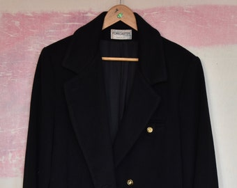 e98f063e1cabe Forecaster of Boston 80 s Women s 14 Full Length Overcoat — Water Repellant  100% Wool Fall Winter Luxurious Haute