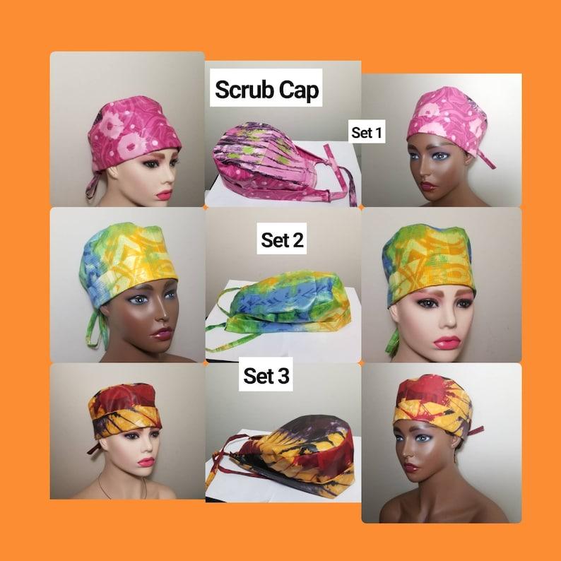 Tie dye UNISEX Scrub cap,Surgical cap,Nurse cap .