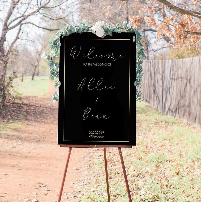 Elegant Wedding Welcome Sign | Digital File Download | Canvas