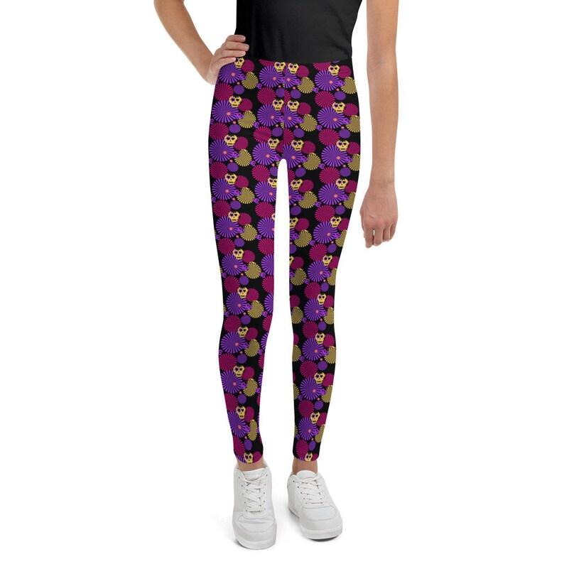Teen Halloween Leggings Girl/'s Halloween Skull Print Youth Leggings Sizes 8 to 20 in Girls