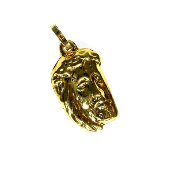 18ct 18k Yellow Gold Jesus Pendant