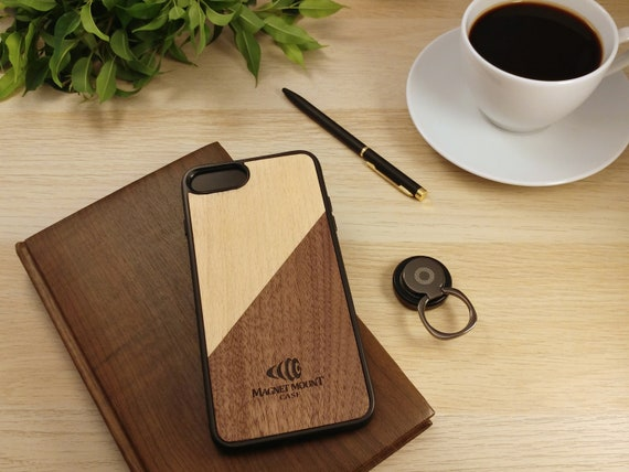iPhone 8 Case /& Magnet Phone RingPhone StandCar Phone Holder-Customized Wood Case for iPhone 6s iPhone 7 iPhone 8 iPhone X