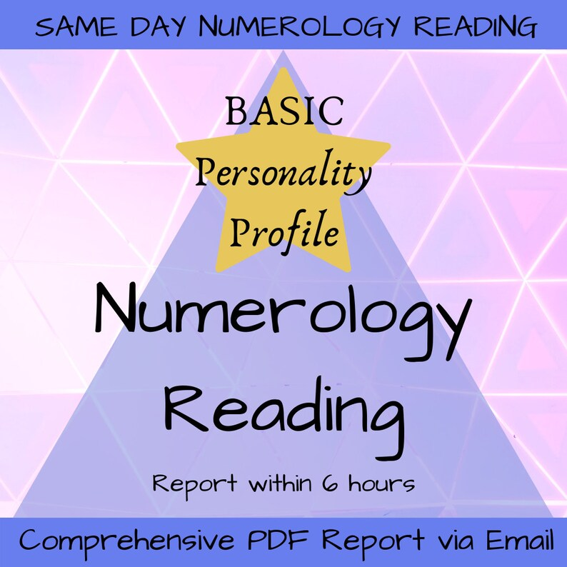 Numerology Reading - Personalized Core Personality Profile Numerology  Report - Detailed PDF Reading - Basic Core Numbers Numerology Reading
