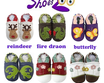 BEST SELLERS! Carozoo christmas  Baby Soft Sole Kid Indoor Leather Shoes slippers socks booty girls boys chausson  cuir leder babyschuhe