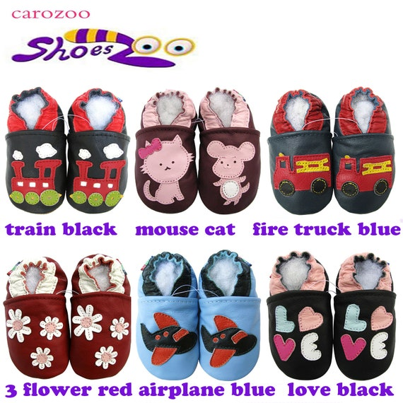 carozoo train black 3-4y new soft sole leather baby shoes